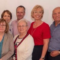 Gemeinsam mit Dr. Thomas Holtmeier (links), Andreas Faltlhauser und Franz Nowy (rechts) warben Sabine Zeidler (Mitte) und die AsF-Frauen für die Organspende.